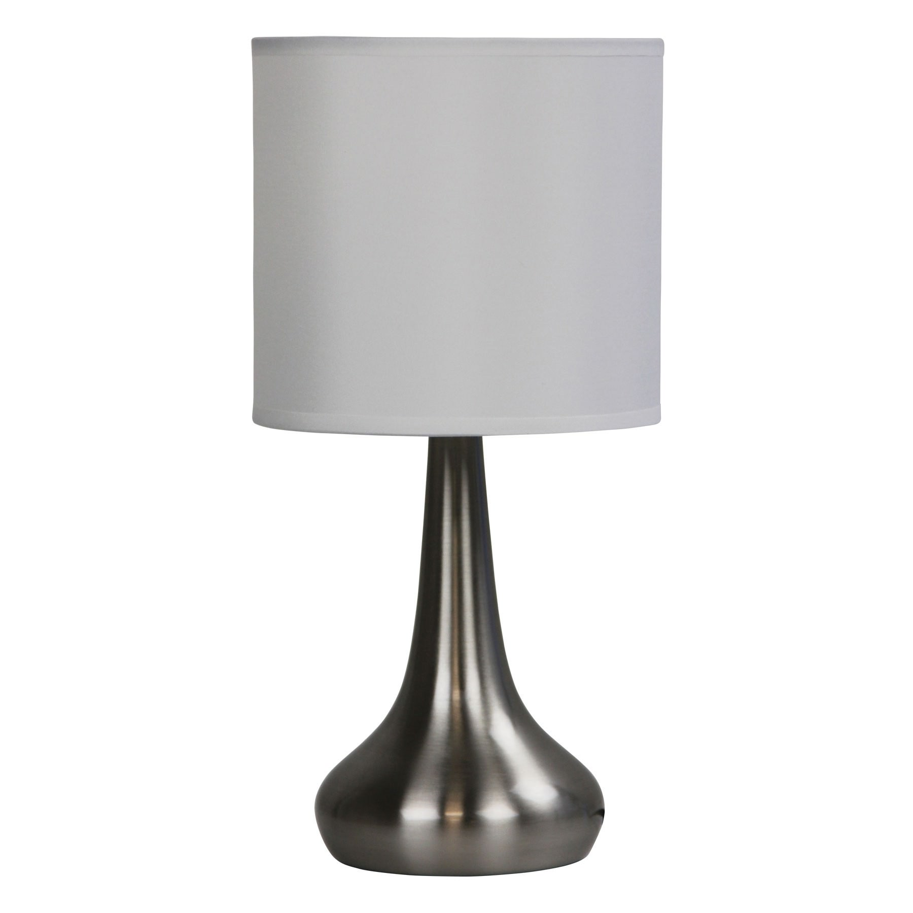 Lola 3 Stage Touch Table Lamp, Brushed Chrome