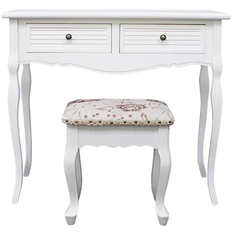 Vaujours Dressing Table with Cachan Dressing Stool