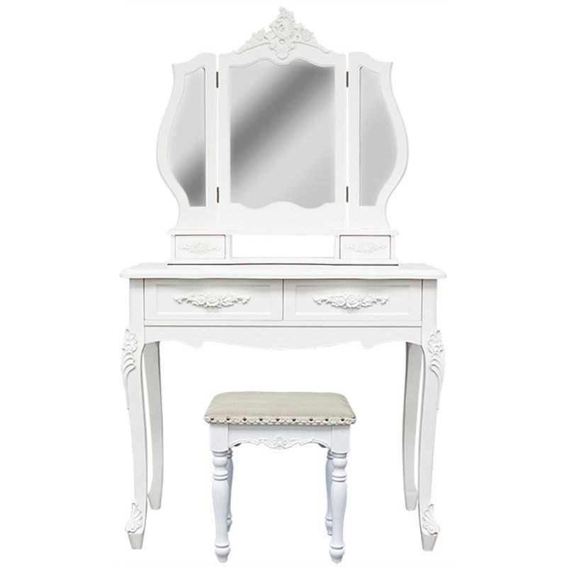 Ecoles Dressing Table with Chatou Dressing Stool