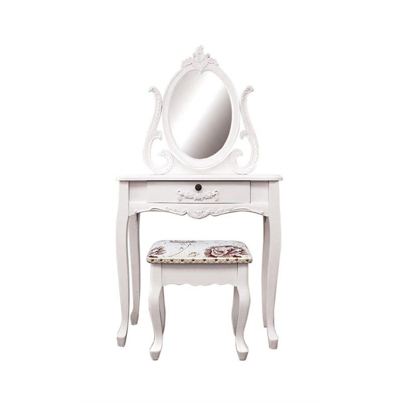 Garches Dressing Table with Cachan Dressing Stool