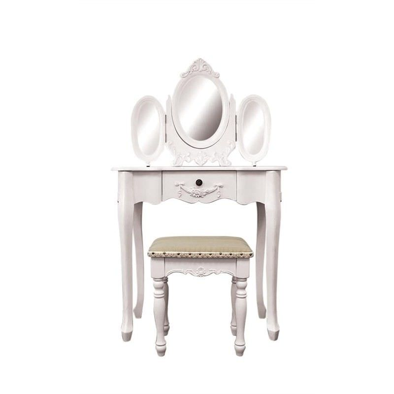 Ivry Dressing Table with Chatou Dressing Stool