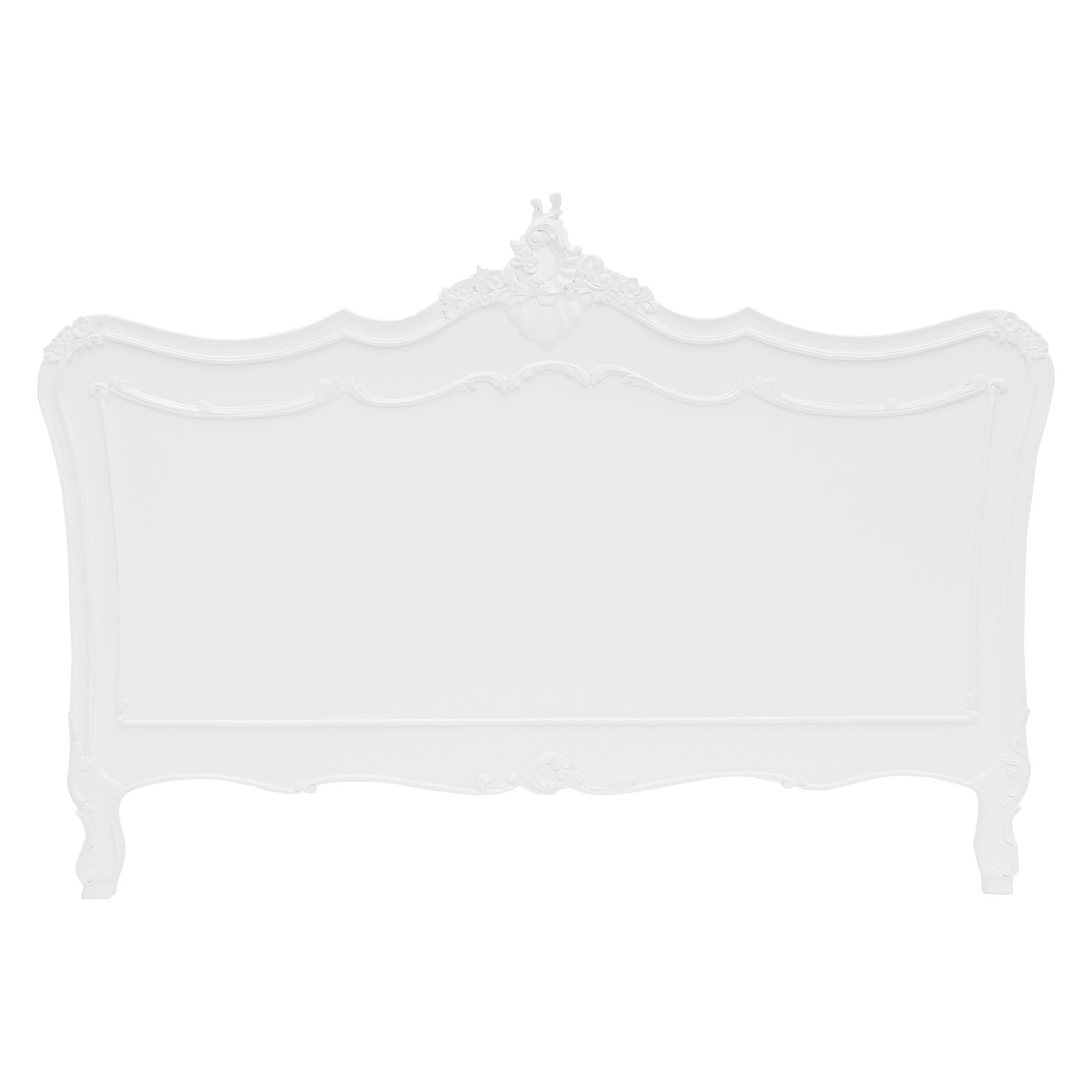 Fourchambault Hand Crafted Mahogany Queen Size Headboard, White