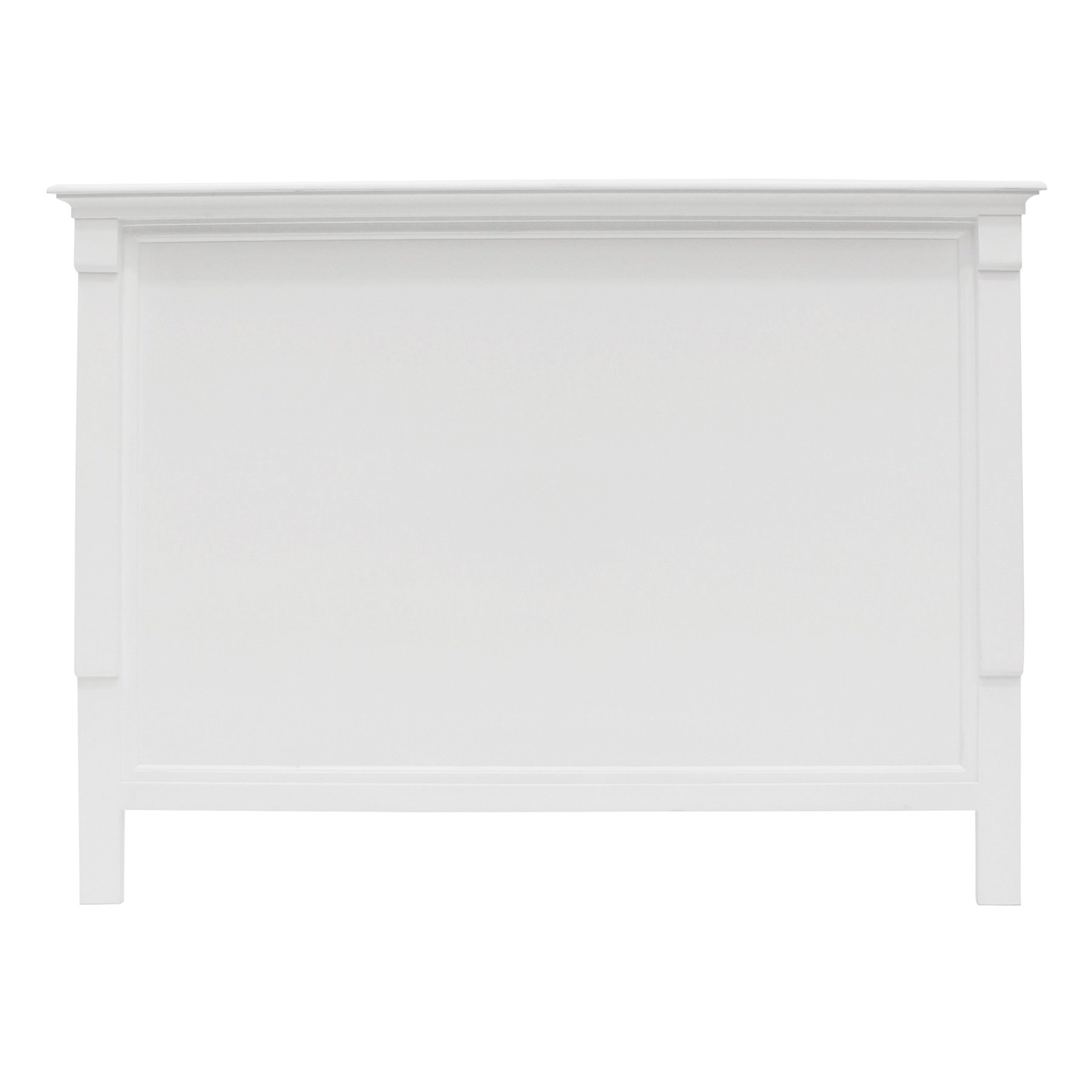 Belley Hand Crafted Mahogany Timber Bed Headboard, King, White