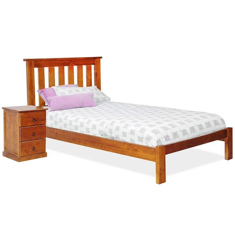 Alford Pine Timber Bed, King Single