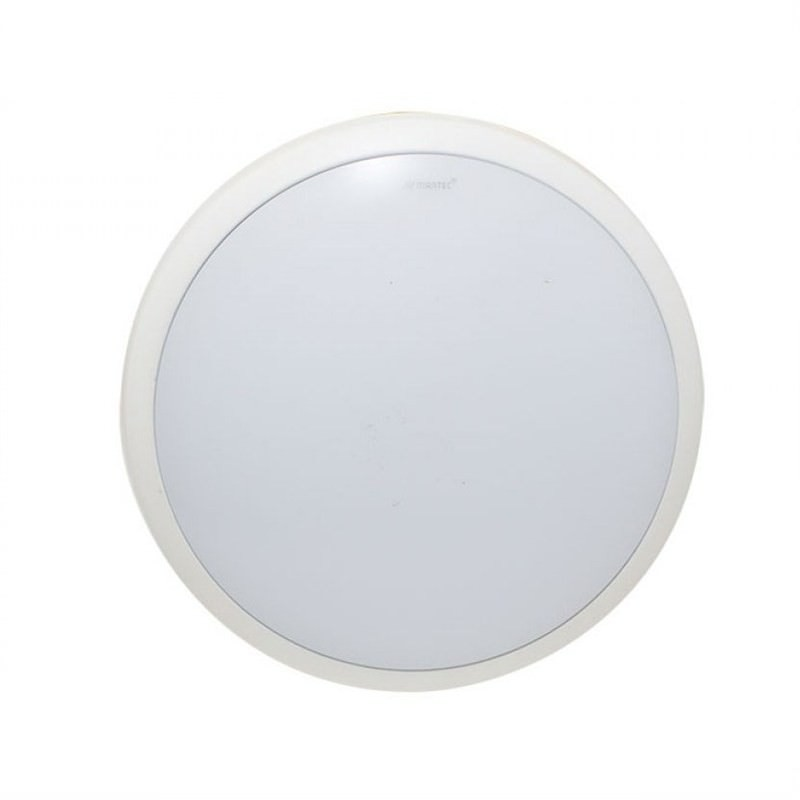 Martec Lunar 25cm 28W Warm White Dimmable LED Oyster Light - White (MLLO3028WD)