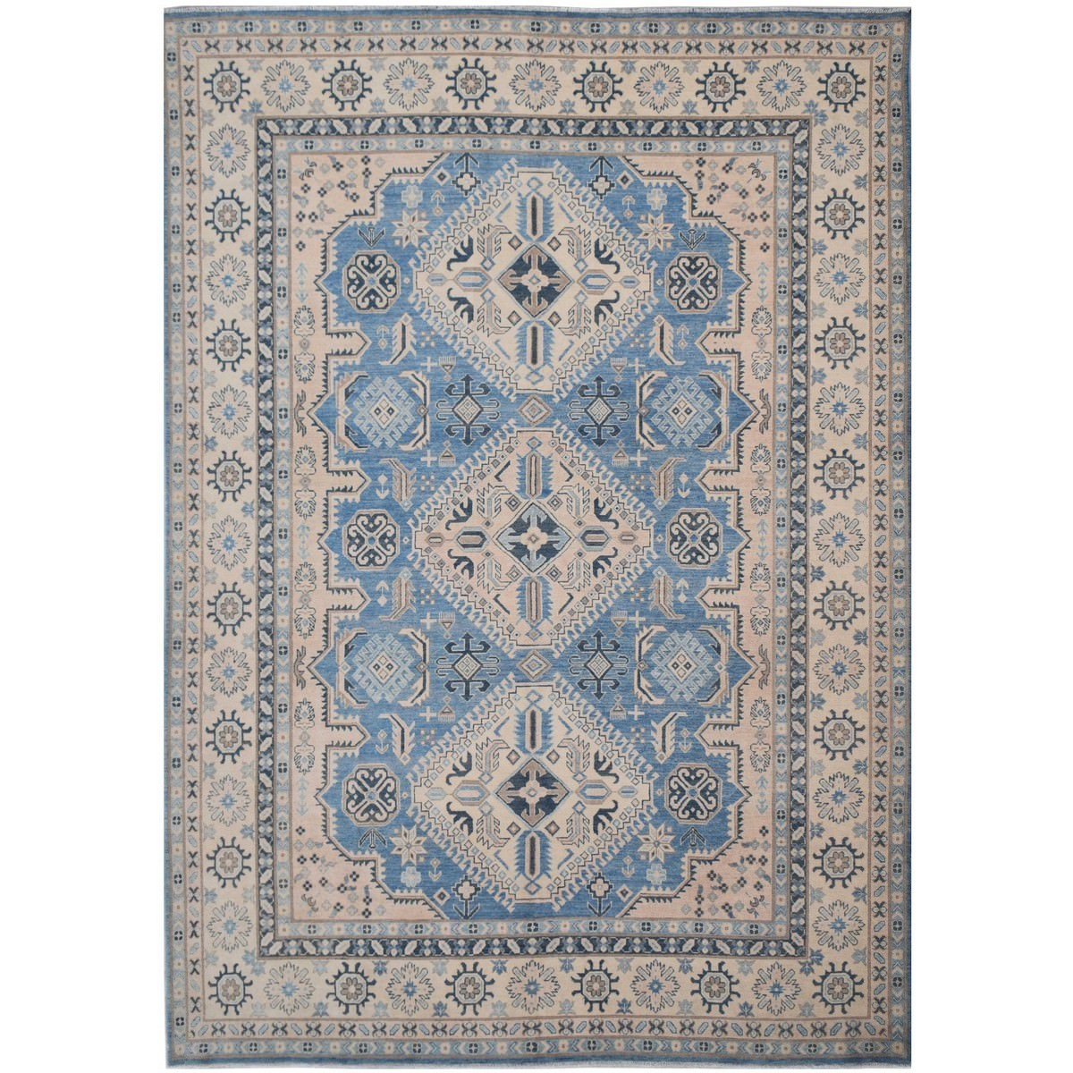 One of A Kind Rajan Hand Knotted Wool Sultan Rug, 359x272cm