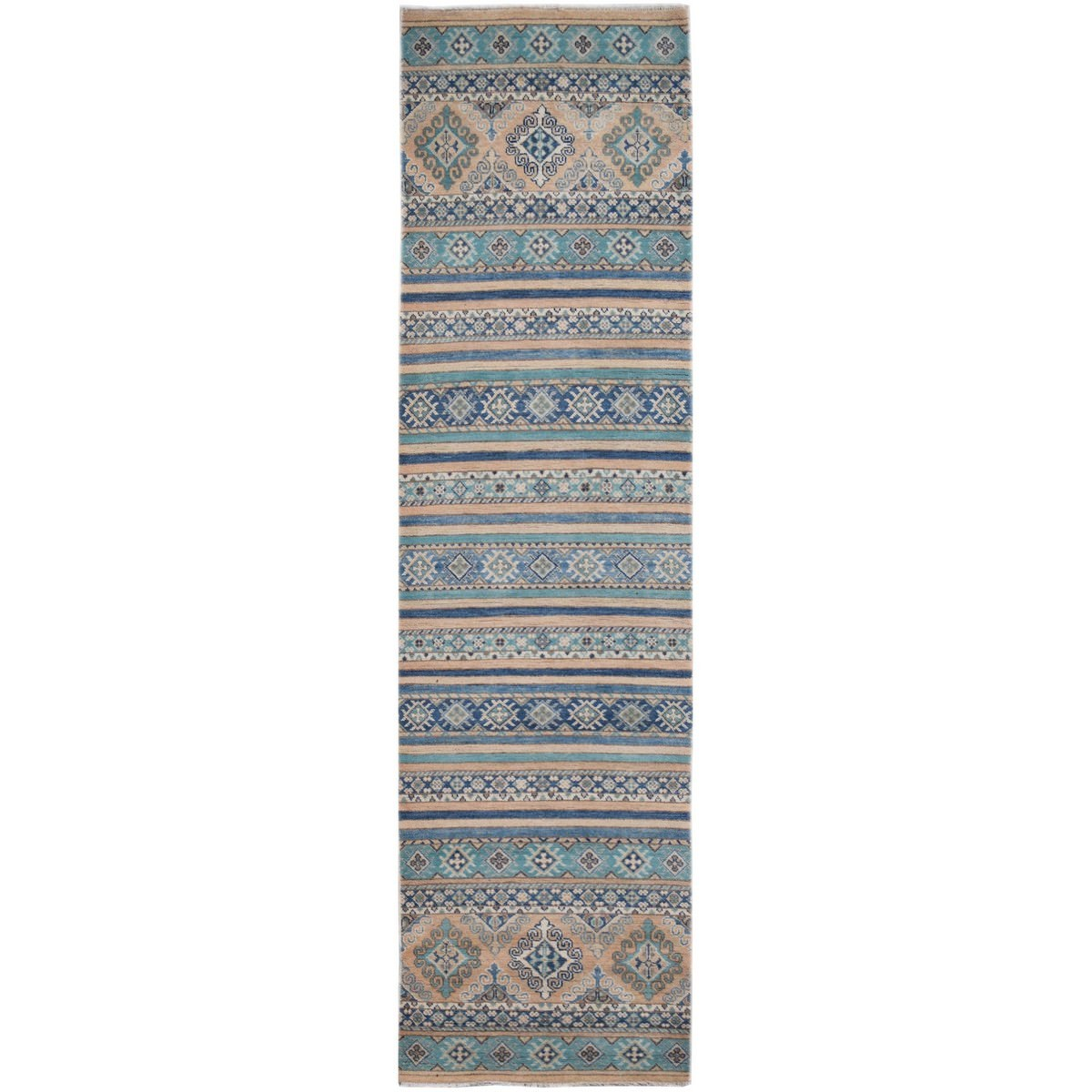 One of A Kind Giles Hand Knotted Wool Sultan Runner Rug, 292x75cm
