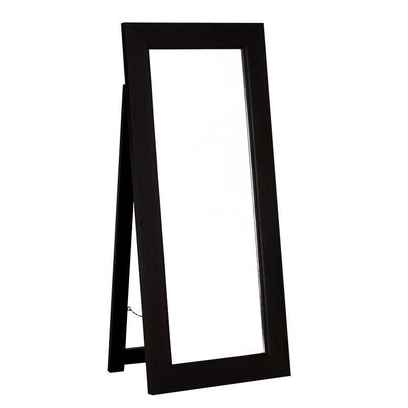 Hadley Solid Mahogany Timber Free Stand Dressing Mirror - Chocolate