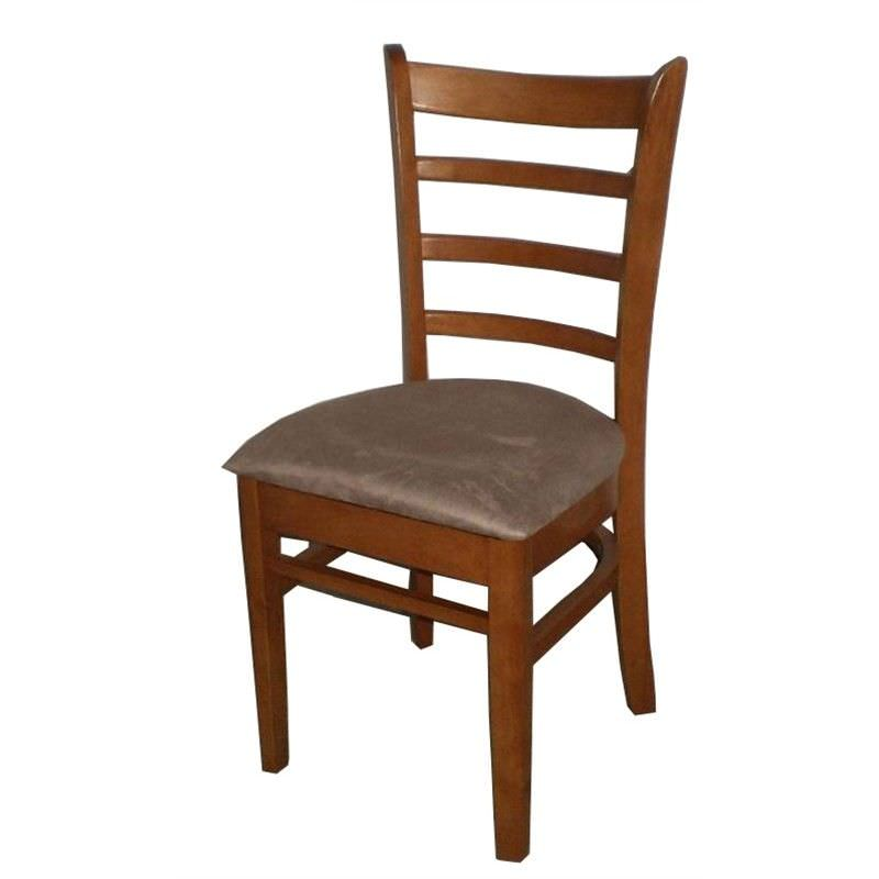 Mustang Rubberwood Dining Chair, Umber