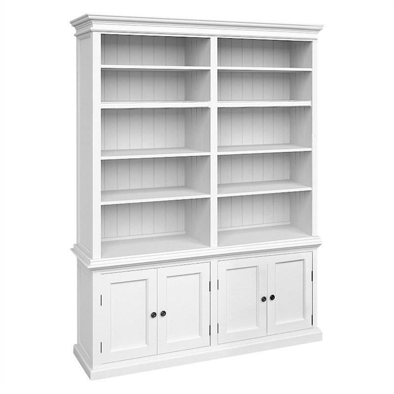 Halifax Solid Mahogany Timber Double Hutch Bookcase