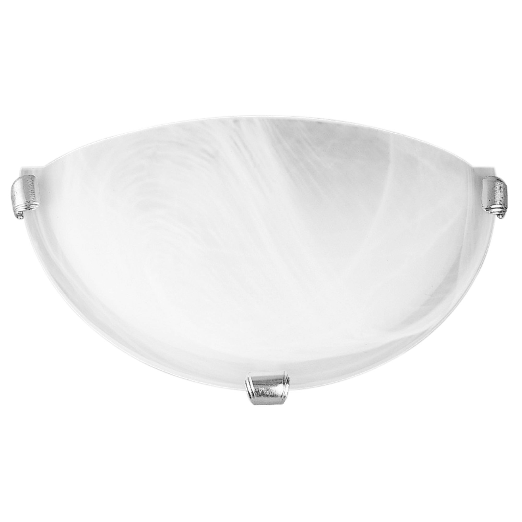 Remo Alabaster Glass Wall Light, Brushed Chrome