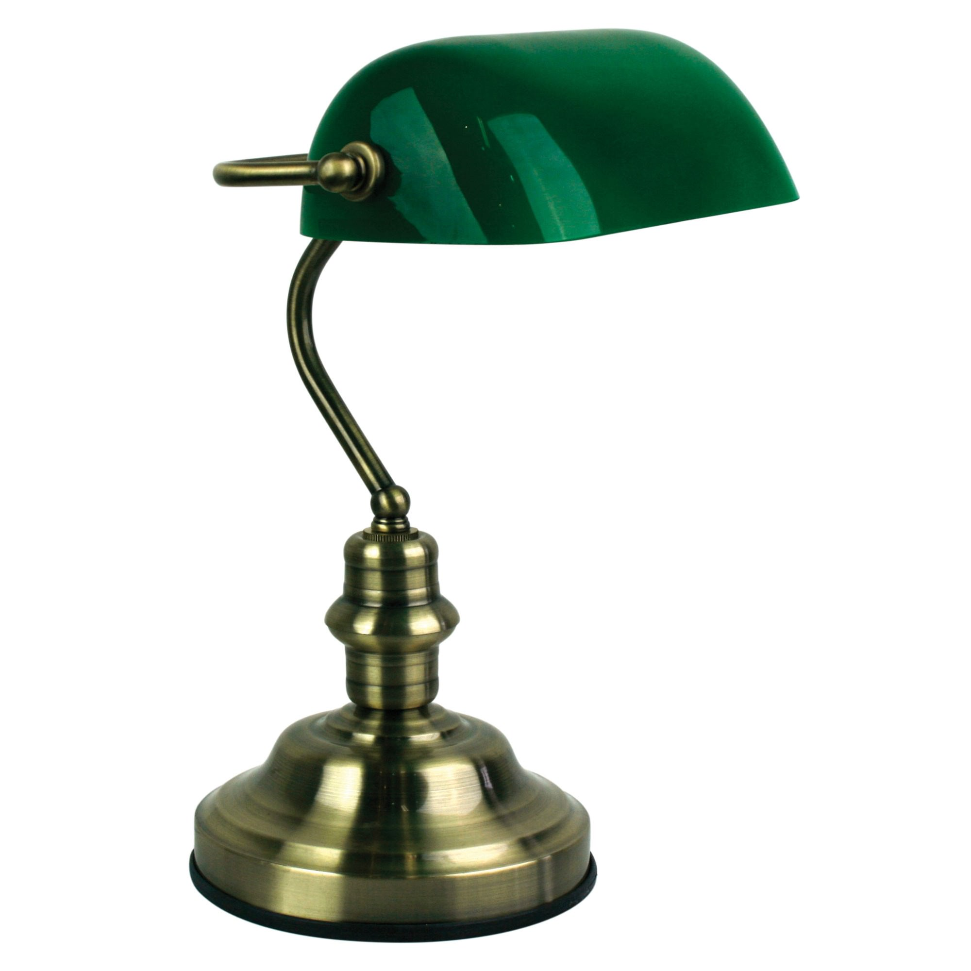 Bankers Touch Desk Lamp, Antique Brass
