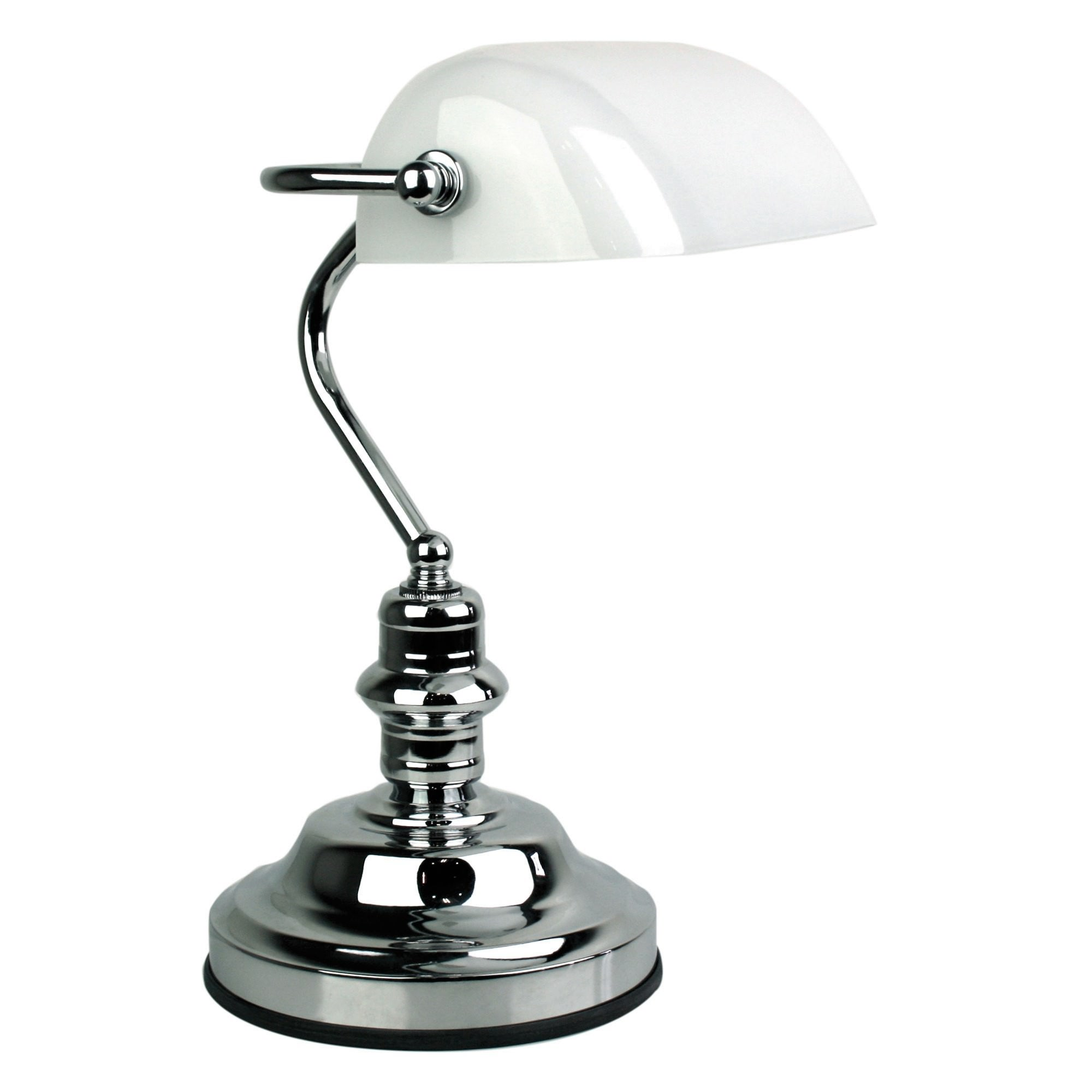 Bankers Touch Desk Lamp, Bright Chrome