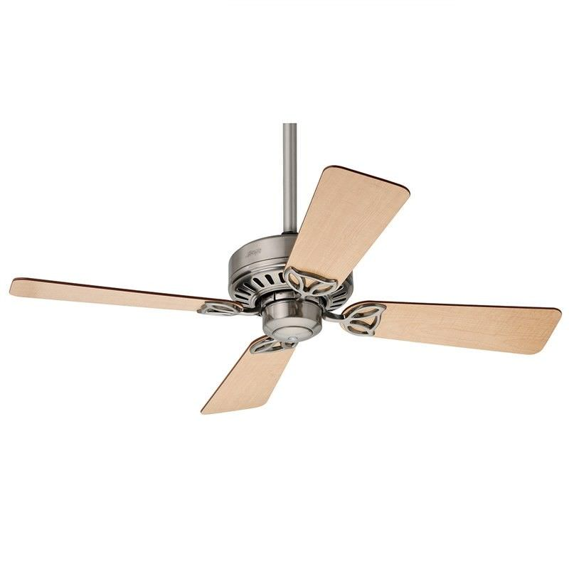 Hunter Bayport Brushed Nickel Ceiling Fan with Maple / Cherry Switch Blades