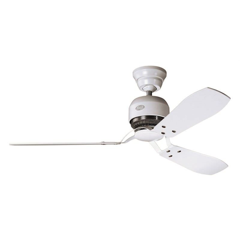 Hunter Industrie II Chalk White Ceiling Fan with White / Maple Switch Blades
