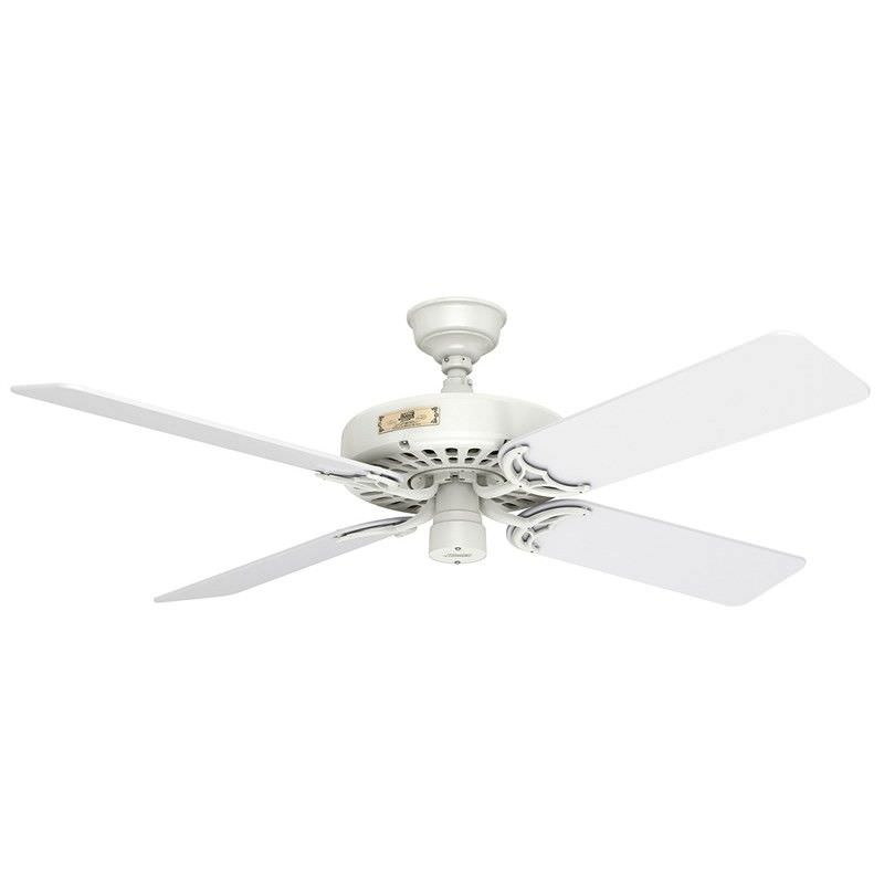 Hunter Original White Ceiling Fan with White Blades