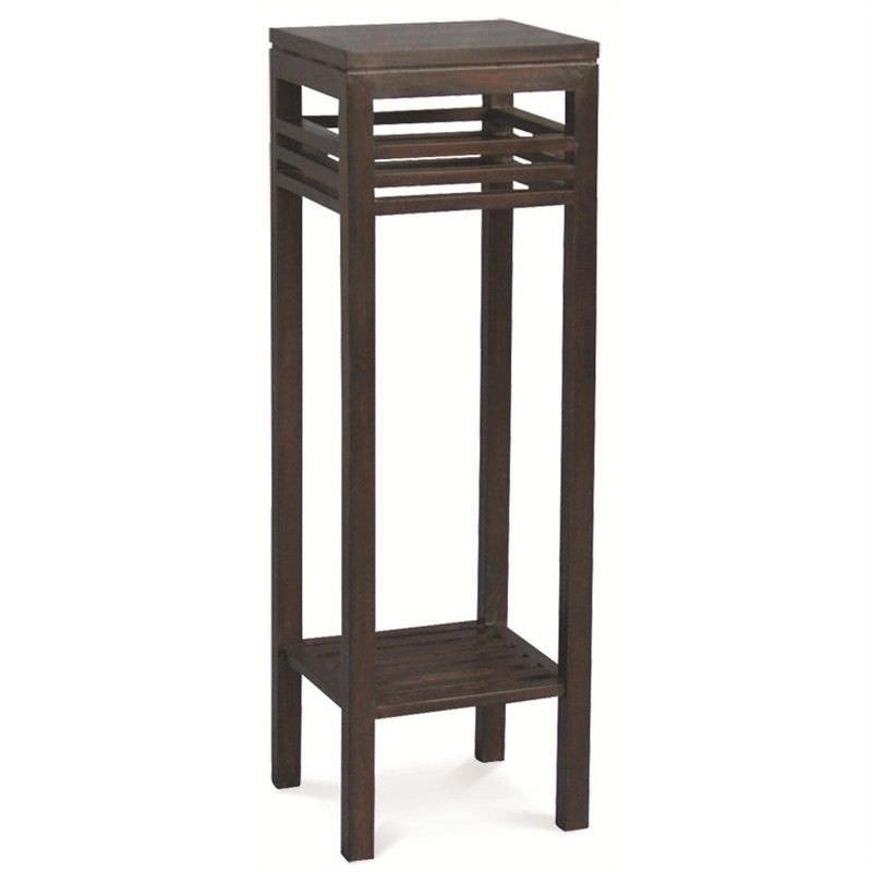Holland Solid Mahogany Timber Plant Stand - Chocolate