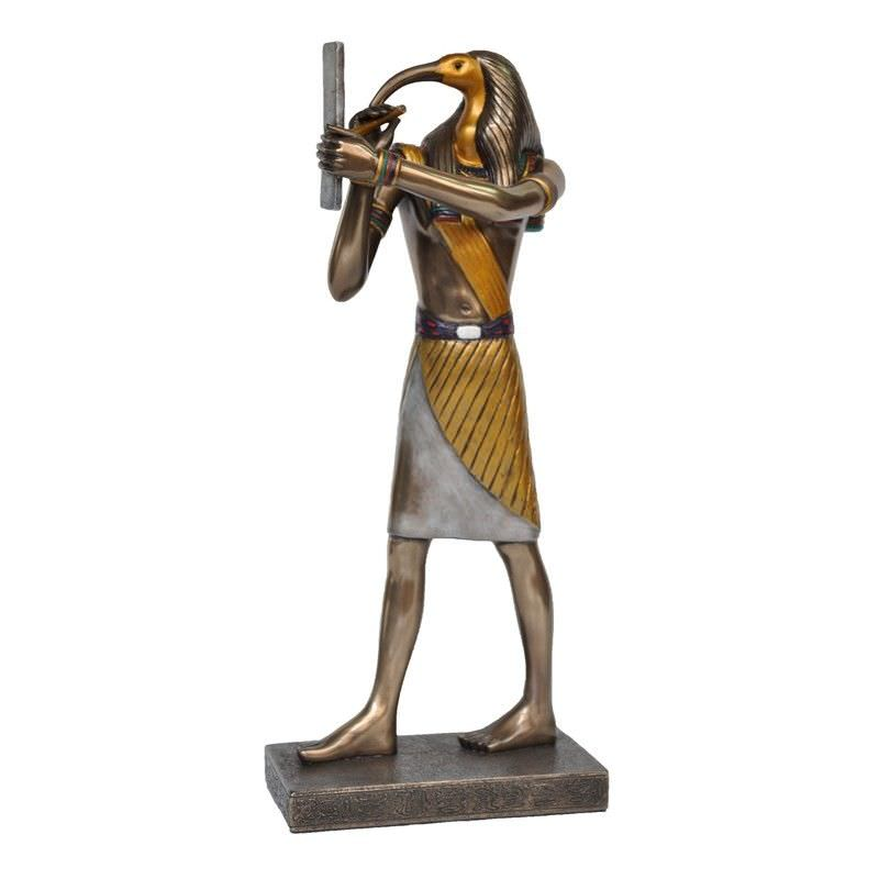 Veronese Cold Cast Bronze Coated Egyptian Mythology Figurine, Standing Thoth