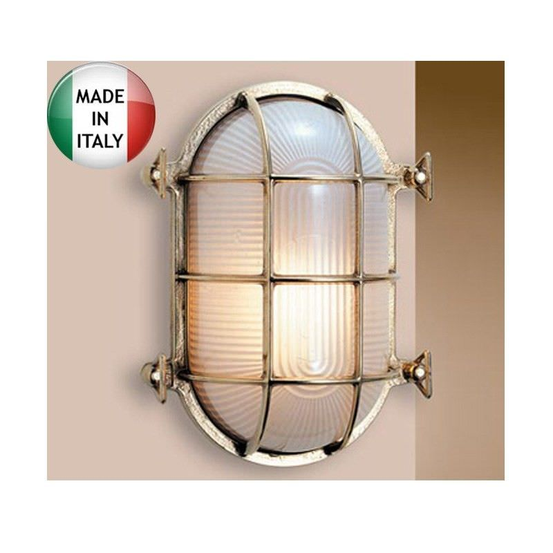 Mornington Small Cast Brass Oval Bunker - Made In Italy