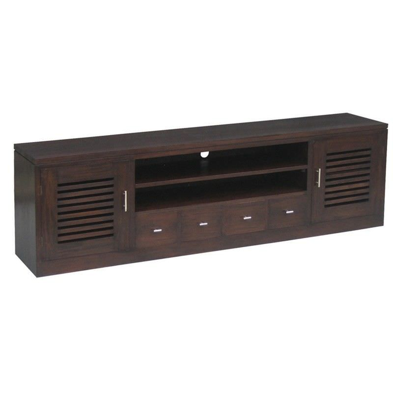 Holland Solid Mahogany 2 Door 4 DVD Drawer Entertainment in Chocolate