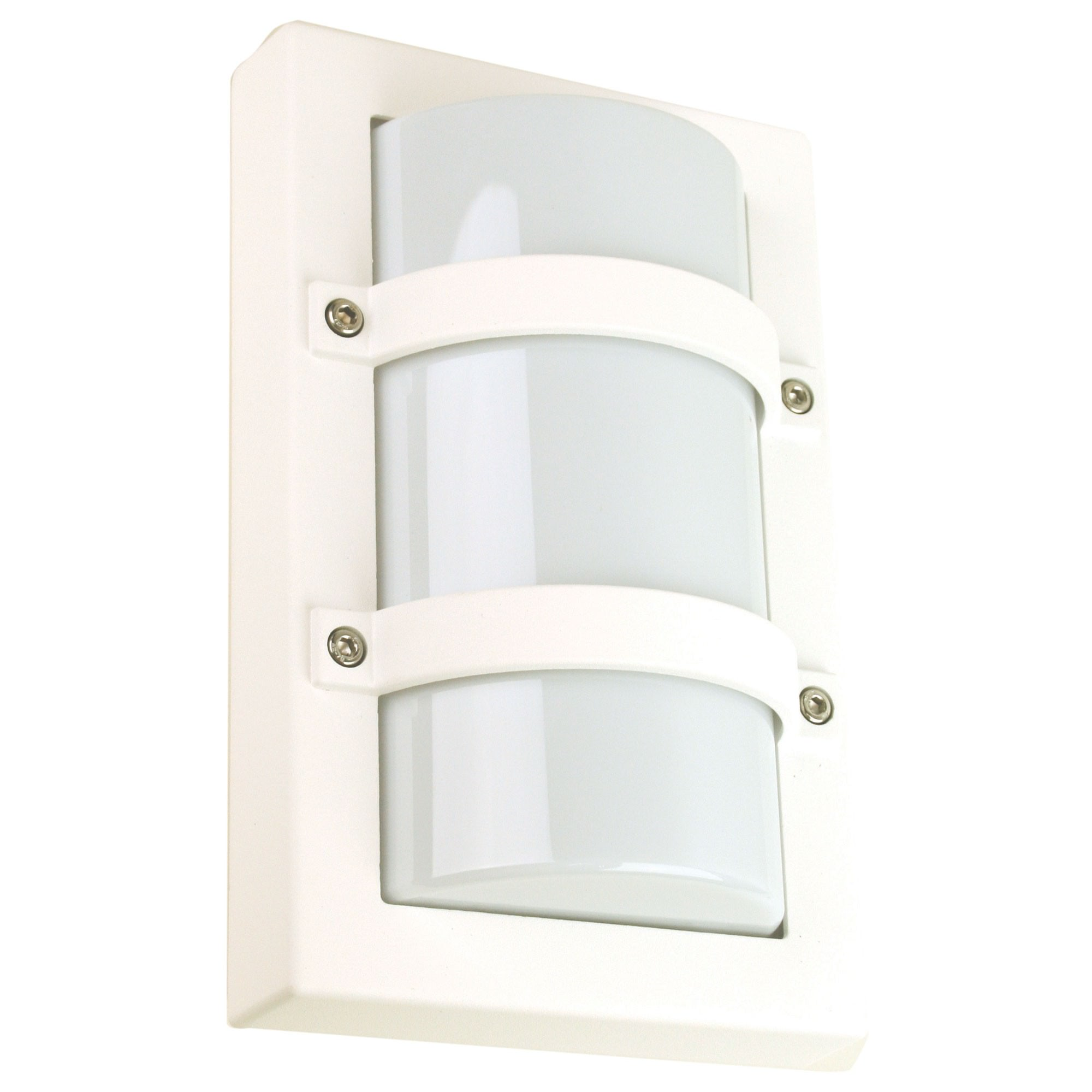 Trio IP65 Commercial Grade Exterior Bunker Wall Light, Small, White