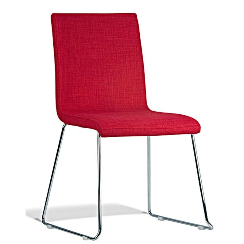Limnos Commercial Grade Chair - Red Fabric Seat