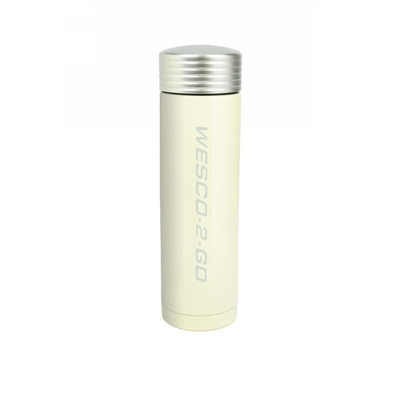 Wesco 350ml Stainless Steel Vacuum Flask for Hot and Cold Drinks - Almond