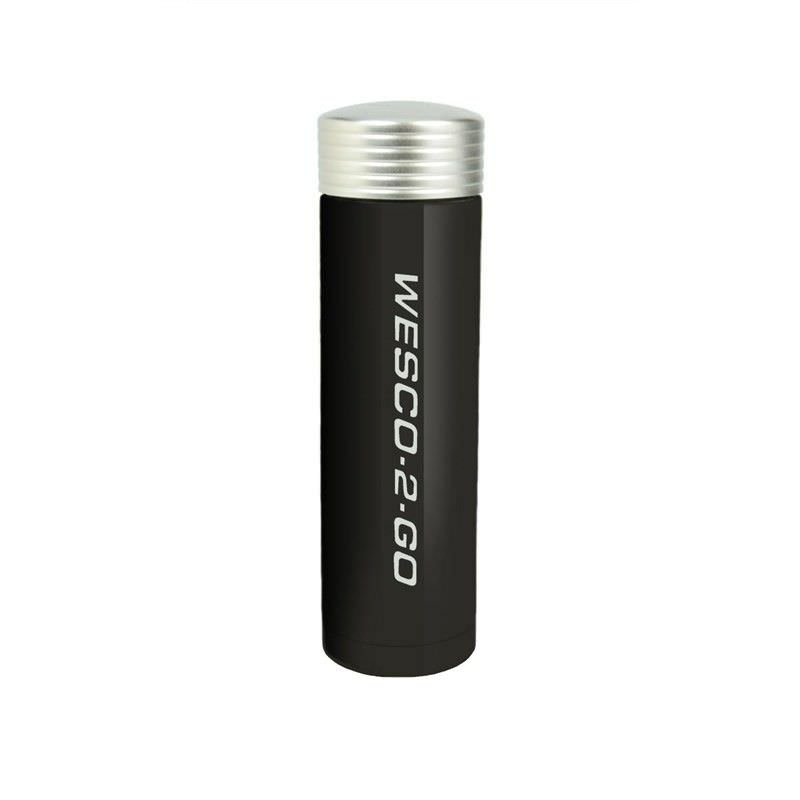 Wesco 350ml Stainless Steel Vacuum Flask for Hot and Cold Drinks - Black