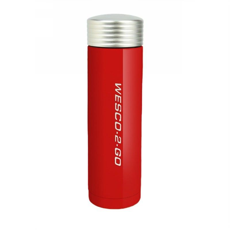 Wesco 450ml Stainless Steel Vacuum Flask for Hot and Cold Drinks - Red