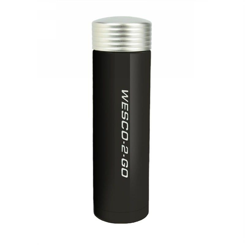 Wesco 450ml Stainless Steel Vacuum Flask for Hot and Cold Drinks - Black