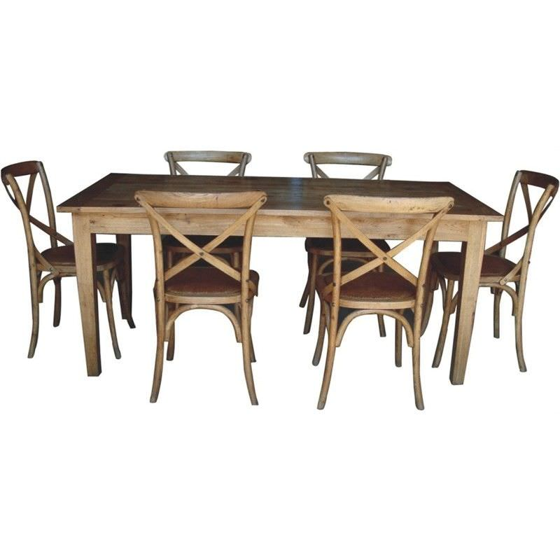Sherwood Solid Oak Timber 180cm Dining Table (Table Only)