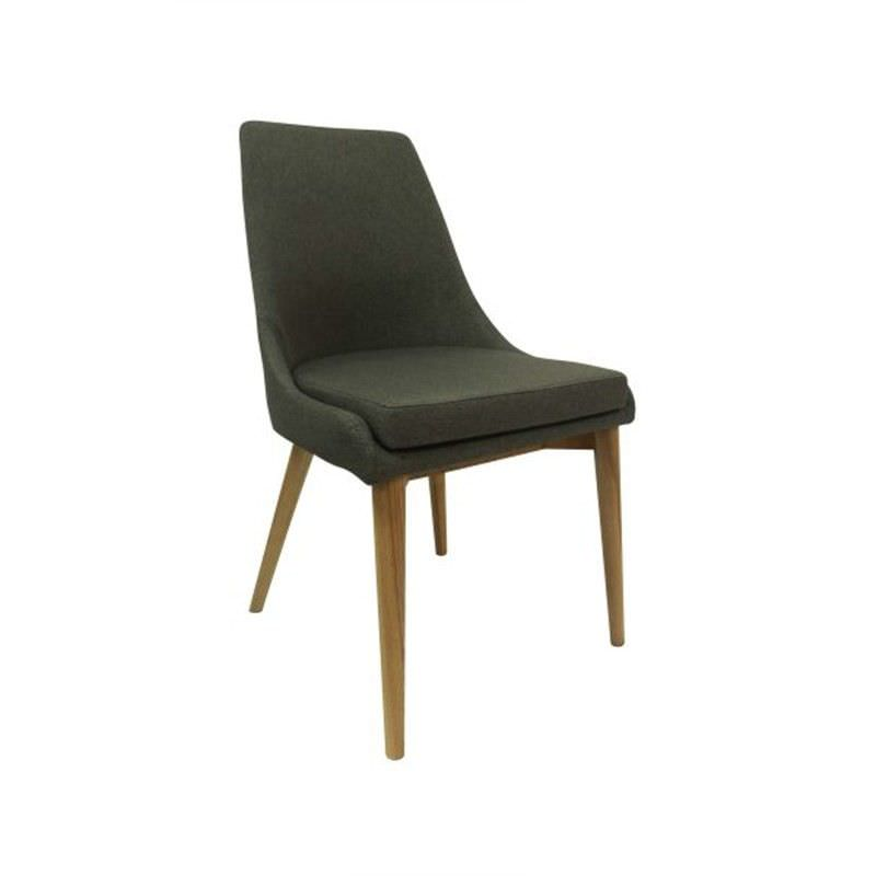 Archie Fabric Dining Chair - Grey