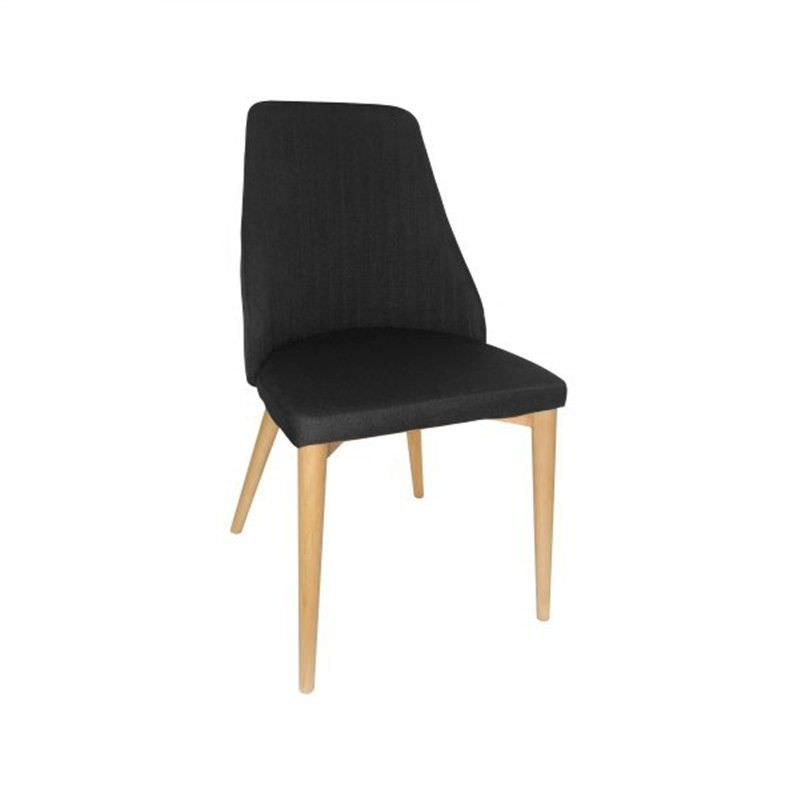Henry Fabric Dining Chair - Black