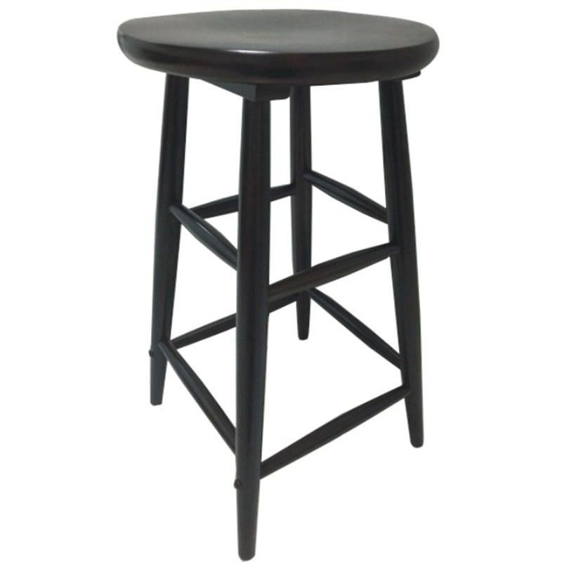 Fred Solid Timber Scoop Seat Counter Stool, Chocolate