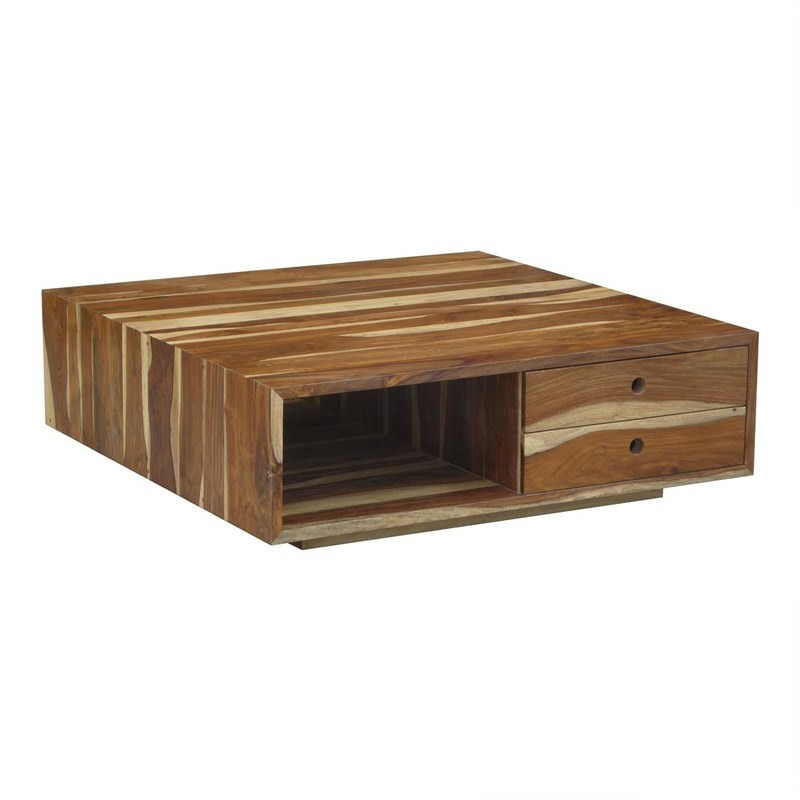Newport Cofee Table with 4 Drawers in Natural