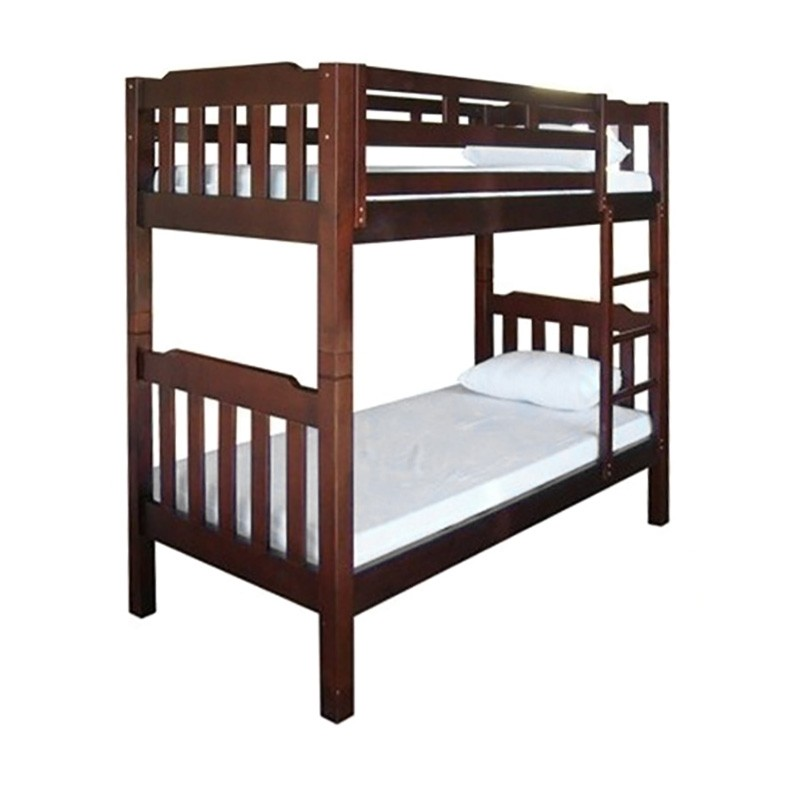 Adelaide Timber Single Bunk Bed In Walnut
