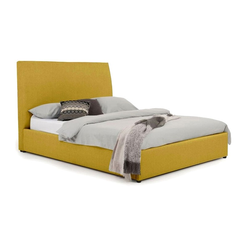 Eric Australian Made Plain Fabric Bed, Double Size, Chartreuse
