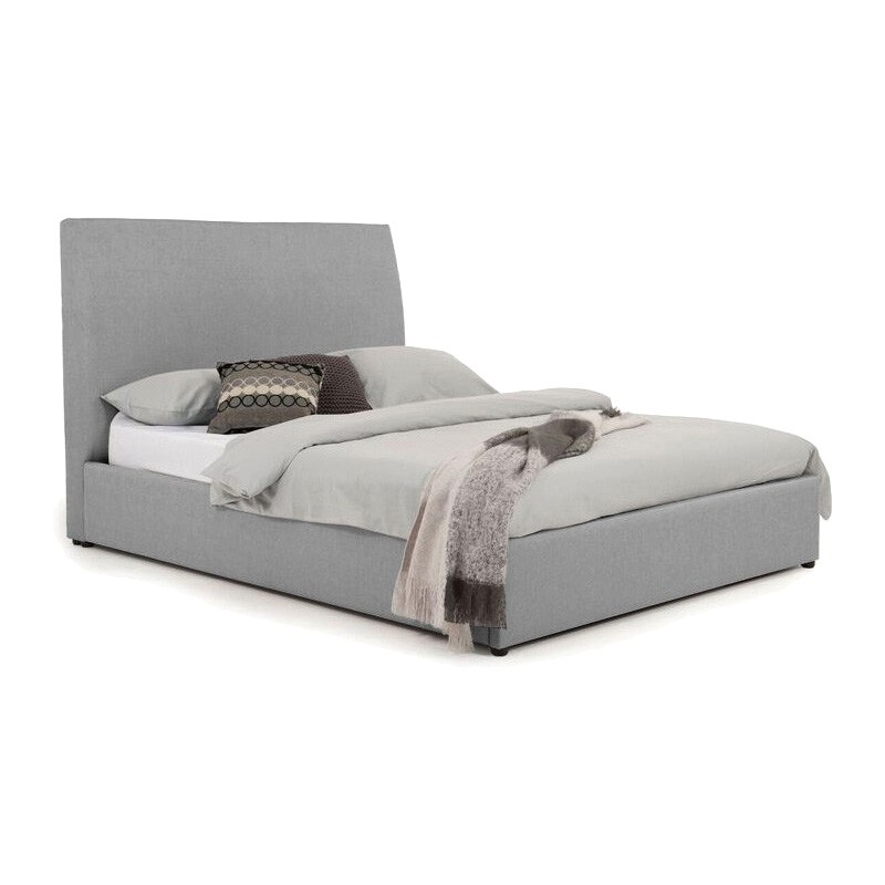 Eric Australian Made Plain Fabric Bed, Double Size, Steel