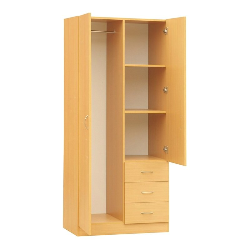 Mission 180x90cm 3-Drawer Combo - White