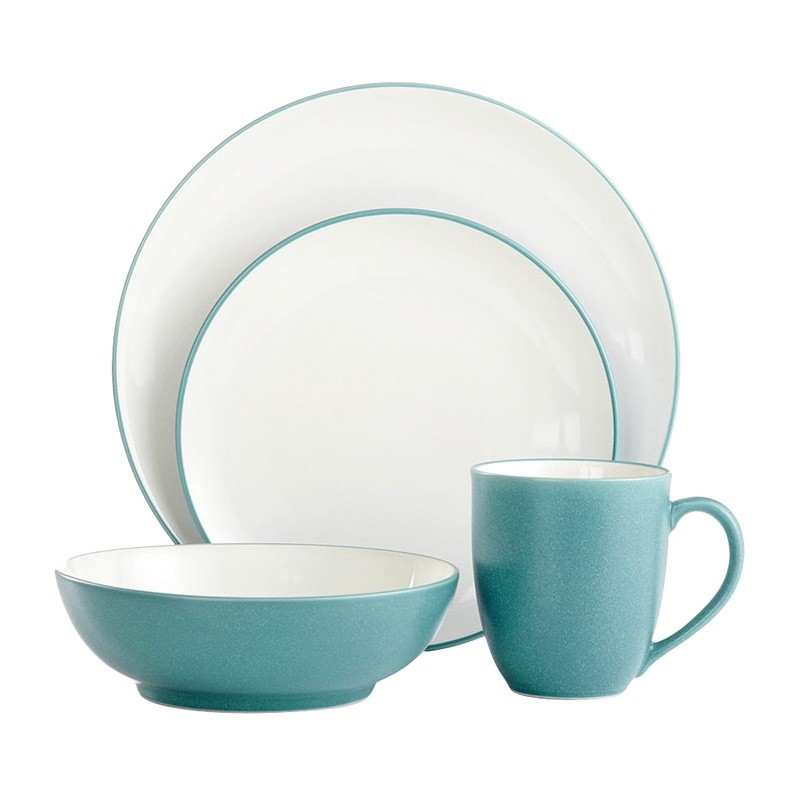 Noritake Colorwave Turquoise 16 Piece Coupe Dinner Set