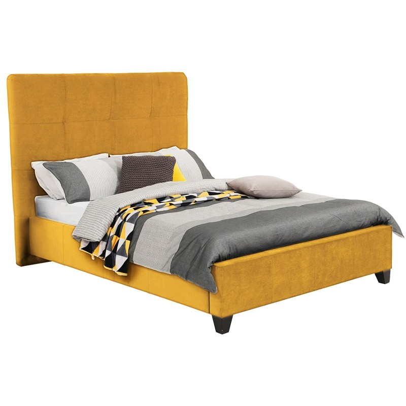 Ruby Australian Made Fabric Bed, King Size, Buttercup