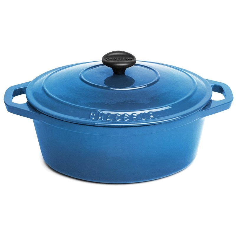 Chasseur Cast Iron Oval French Oven, 27cm, Sky Blue