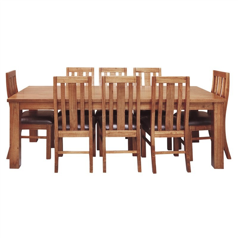 Cooper Mountain Ash Timber Dining Table (Table Only), 225cm