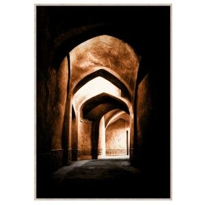 """""""Moroccan Arches"""" Framed Canvas Wall Art Print, No.1, 120cm"""