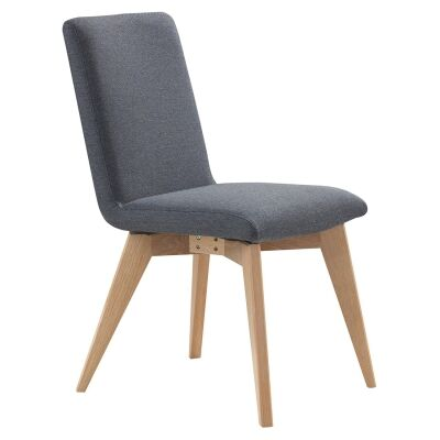 Royce Fabric Dining Chair, Grey / Natural