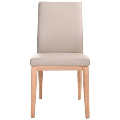 Montano Leather Dining Chair, Light Mocha / Natural