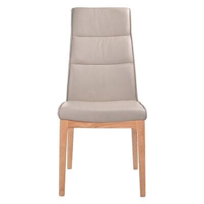 Evoe Leather Dining Chair, Light Mocha / Natural