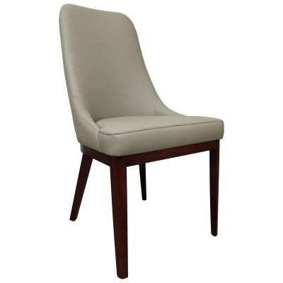 Sarah Leather Dining Chair, Taupe