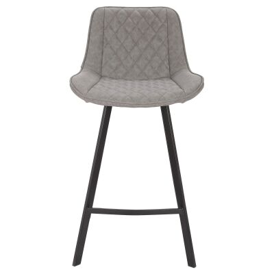 Bordeaux Commercial Grade Faux Leather Counter Stool, Grey