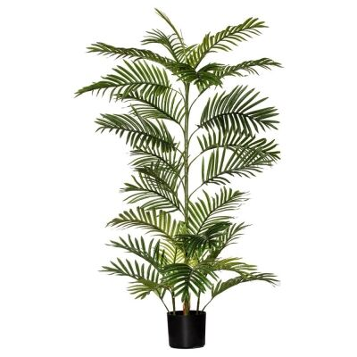 Potted Artificial Cane Palm Tree, 120cm